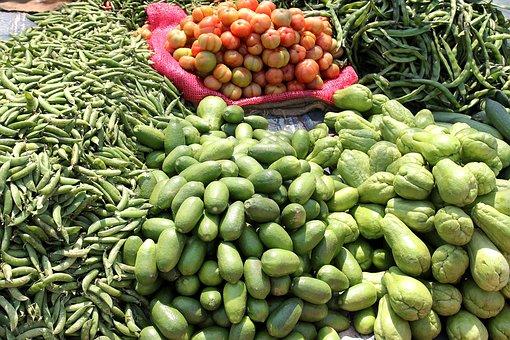 Indian Rural Market, Street Bazaar, Selling