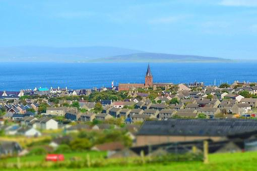Town, Landscape, Kirkwall, Orkney, Church, Urban, House