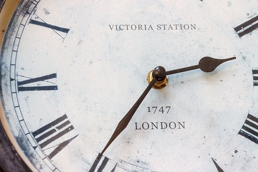 London, Clock, Antique, Victoria Station, Time, Digits