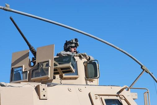 Soldier, Military, Army, Mrap, Armed, American, Man