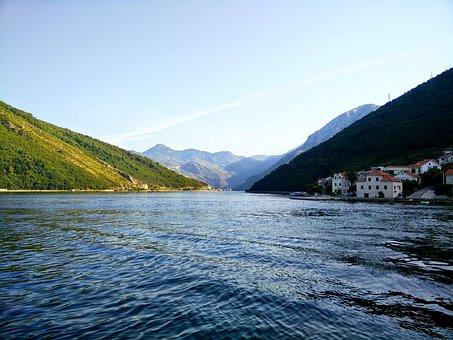 Kamenari, Sea, Morning, Boka Kotorska Bay, Nature