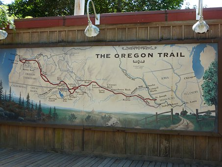 Oregon, Trail, Map, History, Historic, Museum