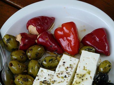 Oily, Olives, Paprika, Feta Cheese, Cheese, Vinegar