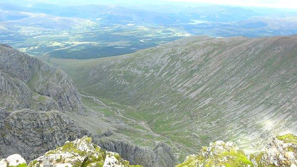 Ben Nevis Mountain, Scotland, Over View