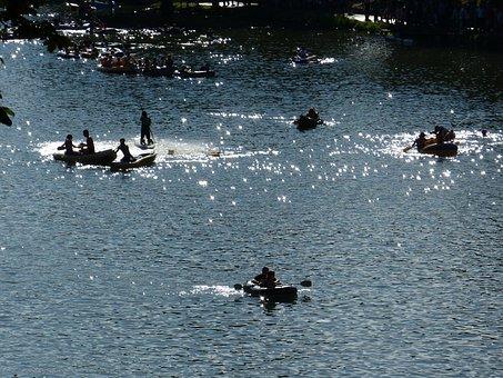Paddler, Boat, Danube, Water, Fun, Inflatable Boats