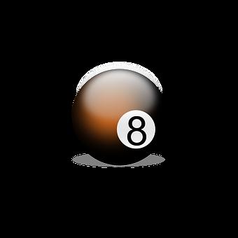 Billiard Ball, Billiards, Play, Number Eight, Eight