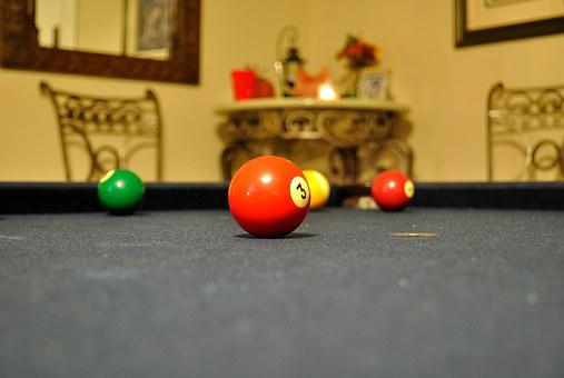 Pool, Billiards, Red Ball
