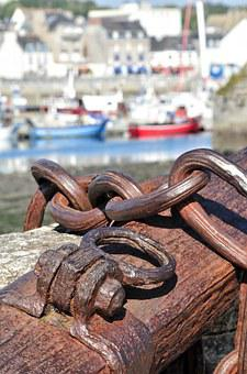 Anchor, Boat, Port, Sea, Wharf, String, Rings