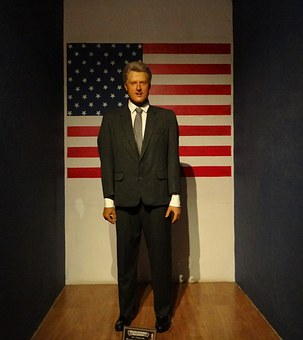 Bill Clinton, Clinton, Statue, Wax, President
