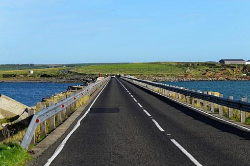 Causeway, Sea, Road, Sign, Travel, Coast, Nature