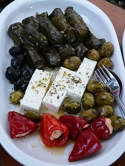 Feta Cheese, Buffet, Salad Buffet, Salad, Olives