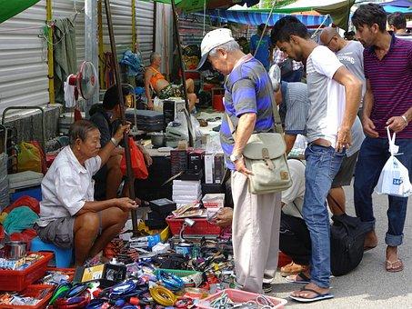 Flea Market, Market, Antiques, Junks, Vintage, Selling