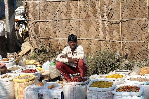 Street Vendor, Selling, Rural Market, Market, Vendor