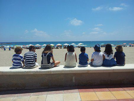 Children, Sea, Beach, Girl, Summer, Water, Holiday