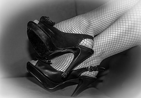 Sexy, Fishnet Stockings, Shoes, Tallons, Woman