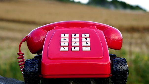 Telephone, Red, Phone, England, Old, Vintage