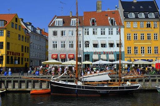 Copenhagen, Nyhavn, Tourist, Attraction, Denmark, Port