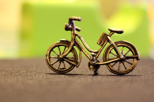 Bicycle, Metal, Bronze, Toy, Bike, Sopramobile, Easel