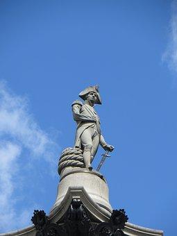 Lord, Nelson, Column, Monument, Trafalgar, England
