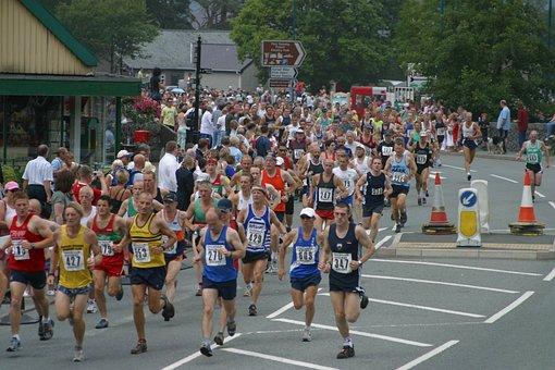Marathon, Race, Wales, Llanberis, Mountain, Snowdon