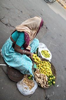 Hawker, Street Vendor, Seller, Woman, India, New Delhi