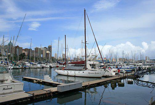 Yacht Club, Yachts, Masts, Water, Jetty, Moored