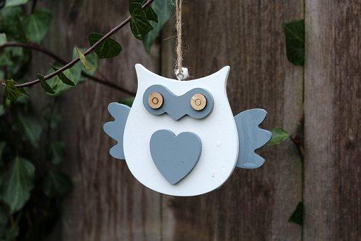 Sowa, Pendant, Bird, Decoration, Nature, Ornament