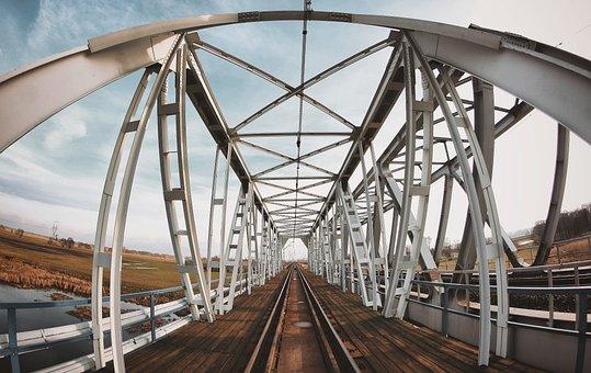 Bridge, Tracks, Rails, Railway, Railway Bridge
