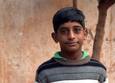 People, Portrait, A Village Boy, Child, Indian