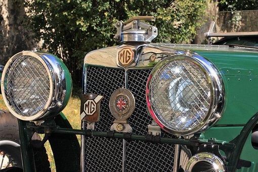 Oldtimer, Auto, Classic, Vintage, Antique, Spotlight