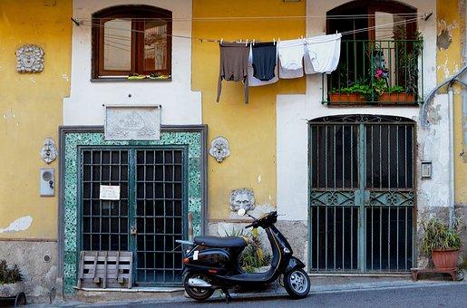 House, Door, Window, Street, Architecture, Town, Urban