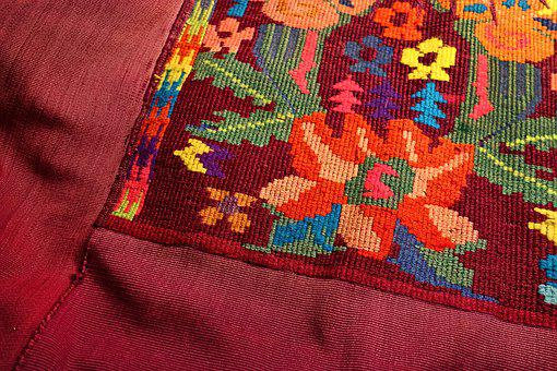 Embroidery, Flower, Fabric, Pattern, Design, Stitch