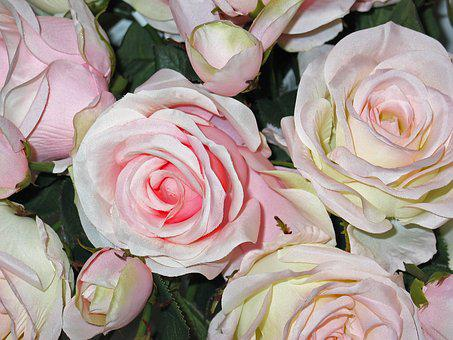 Artificial Flowers, Fabric Roses, Fabric, Rose, Flower