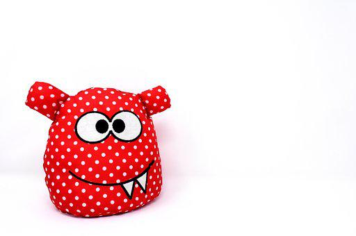 Monster, Fabric, Funny, Cute, Friendly, Smiley, Figure