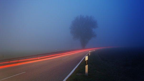Transport System, Sky, Travel, Road, Away, Fog, Foggy