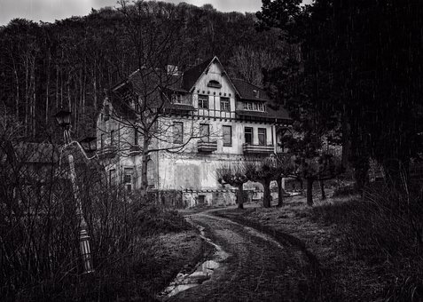 Home, Night, Lost Places, Mystical, Gespenstig, Gloomy