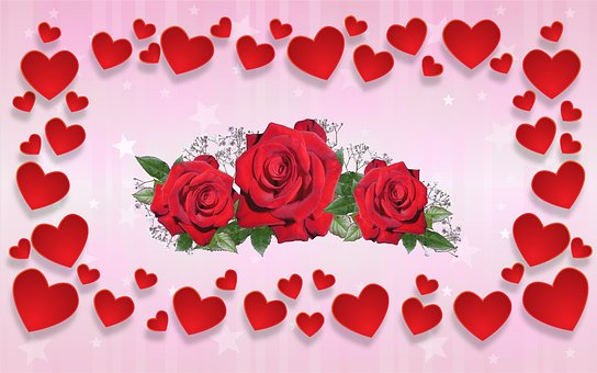 Valentine's Day, Love, Affection, Heart, Roses, Romance