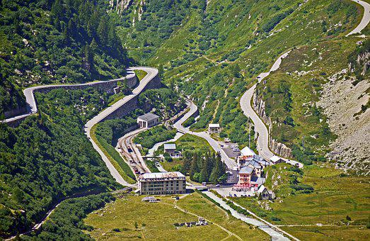 High Rhône Valley, Gletsch, Hub, Pass Roads, Furka Pass