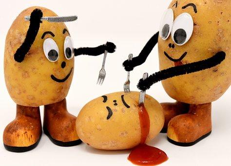 Cannibals, Funny, Potatoes, Knife, Fork, Eat, Kill