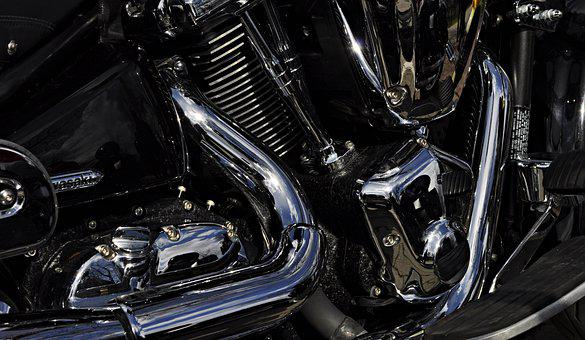 The Vehicle, Transport, Engine, Motorcycle, Chrome