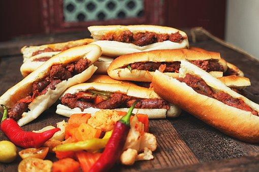 Food, Meat, Sausage, Meal, Pork
