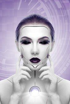 Woman, Robot, Artificial Intelligence, Sci Fi, Light