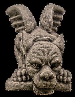 Figure, Dragon, Wing, Face, Ceramic, Sculpture, Statue