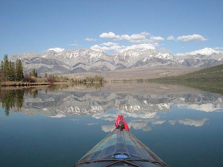 Snow, Mountain, Lake, Nature, Water, Panorama, Outdoors