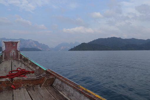 Water, Travel, Sea, Mountain, Landscape, Thailand