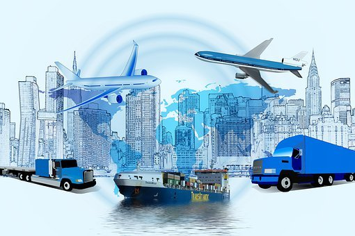 Logistics, Truck, Frachtschiff, Group, Transmission