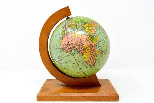 Globe, Earth, World, Planet, Old World Globe, Stand