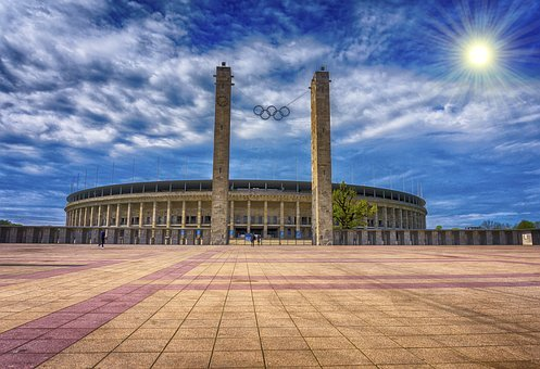 Sky, Architecture, Clouds, Berlin Olympic Stadium, Hdr