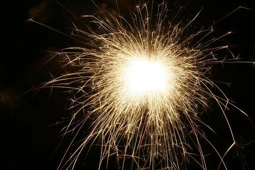 Sparkler, Pf, Christmas, Flame, Celebration