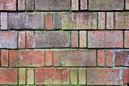 Brick Wall, Wall, Red Brick Wall, Masonry, Cement